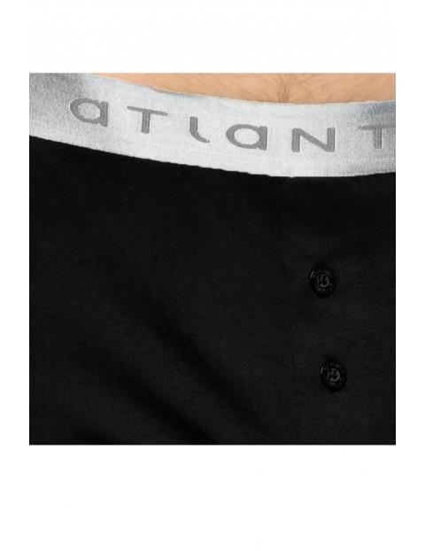 Bokserki męskie Atlantic o luźnym fasonie- czarne