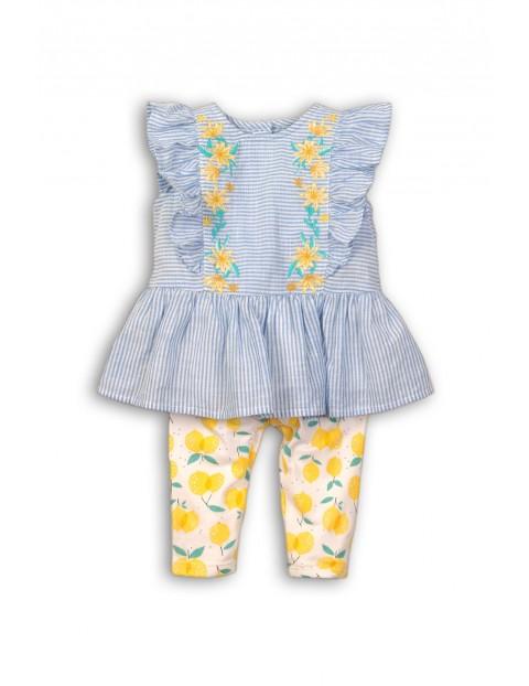 Komplet niemowlęcy bluzka w paski i leginsy