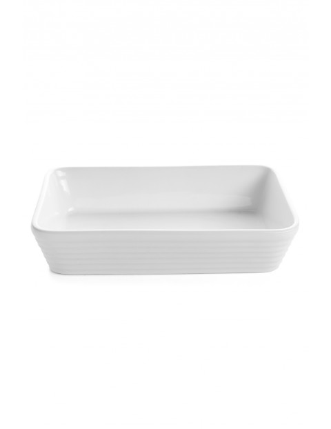 Naczynie ceramiczne Christo prostokątne białe 34x23cm 2,8l