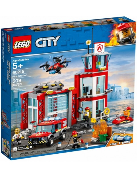 Klocki City Remiza strażacka 509el