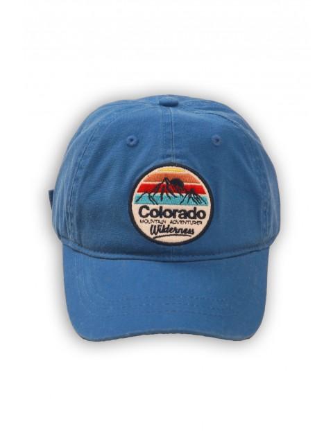 Czapka z daszkiem niebieska z naszywką Colorado