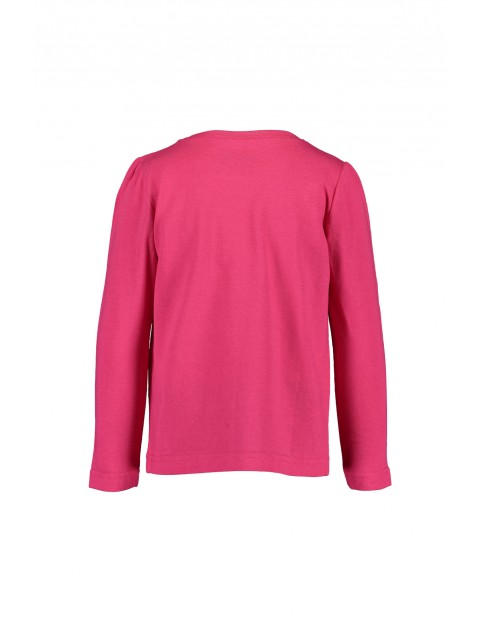 Różowa bluzka z konikami- długi rękaw