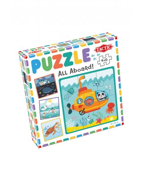Puzzle 6 x 4  Moje pierwsze puzzle: Wszyscy na pokład