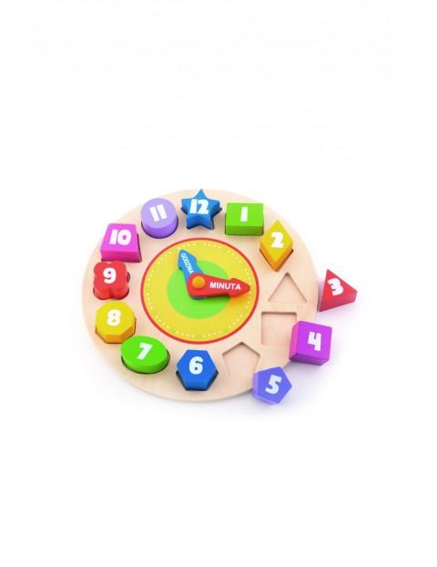 Drewnany zegar edukacyjny - Trefl