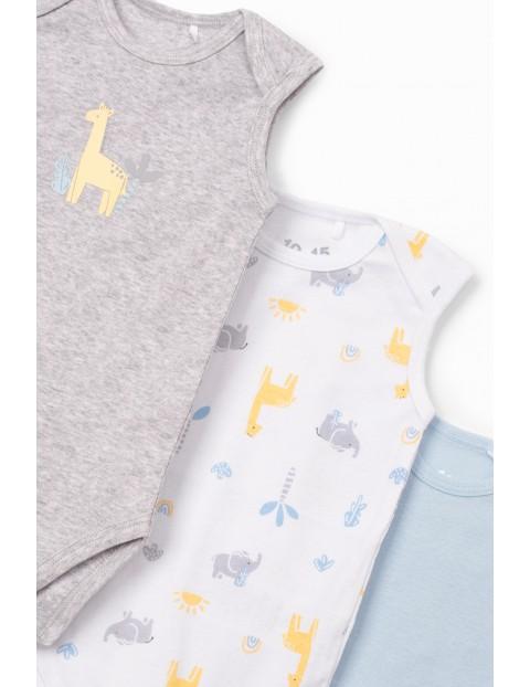 Body niemowlęce bawełniane 3pak