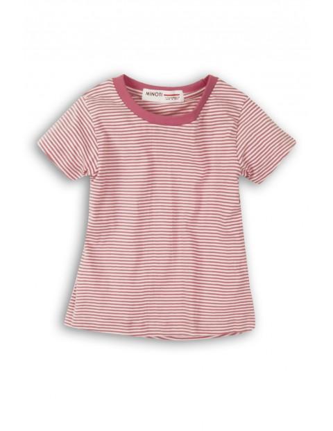 T-shirt dziewczęcy fioletowy w paski