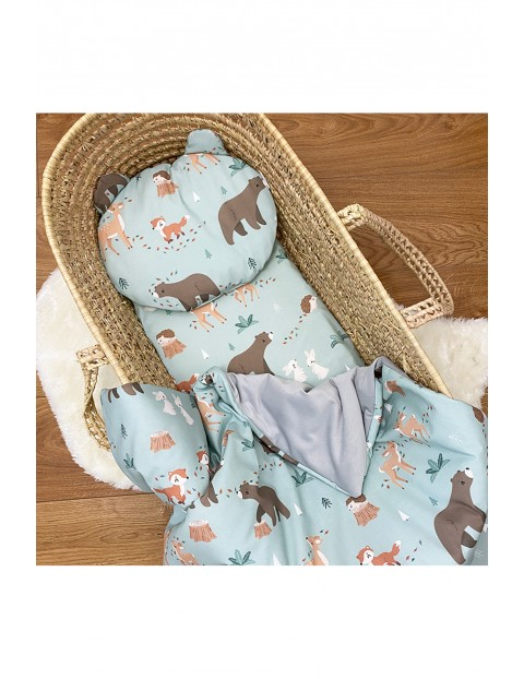 Kocyk niemowlęcy Leśni Przyjaciele 75x100 cm