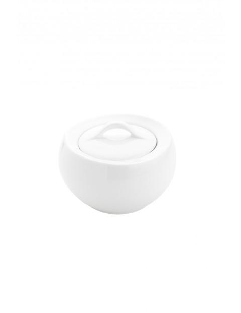Cukiernica porcelanowa Moss w kolorze białym 11 x 7,5 x 11 cm