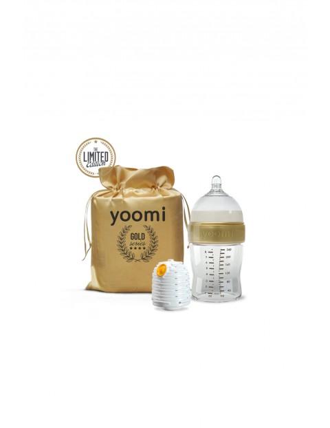 Butelka z podgrzewaczem Gold&Black Yoomi 240 ml