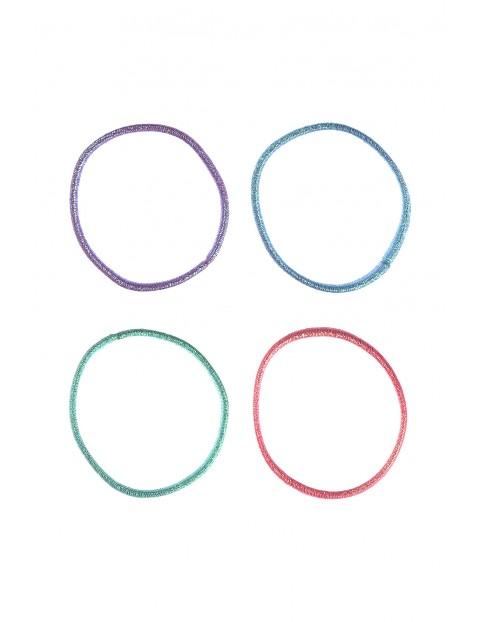 Kolorowe gumki do włosów 4 szt