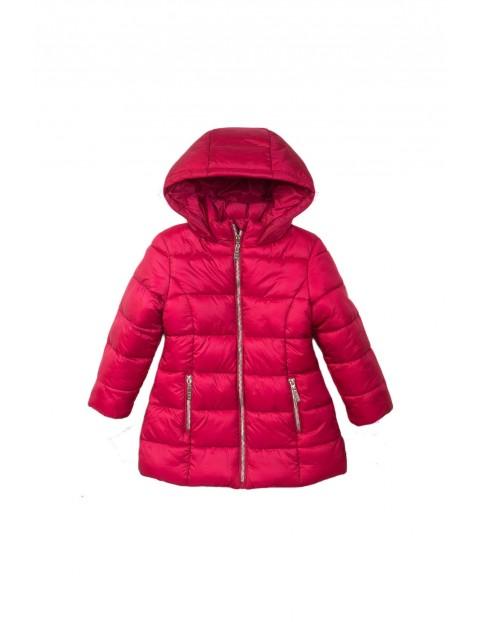 Kurtka zimowa dziewczęca pikowana- różowa