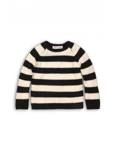 Sweter dziewczęcy w paski