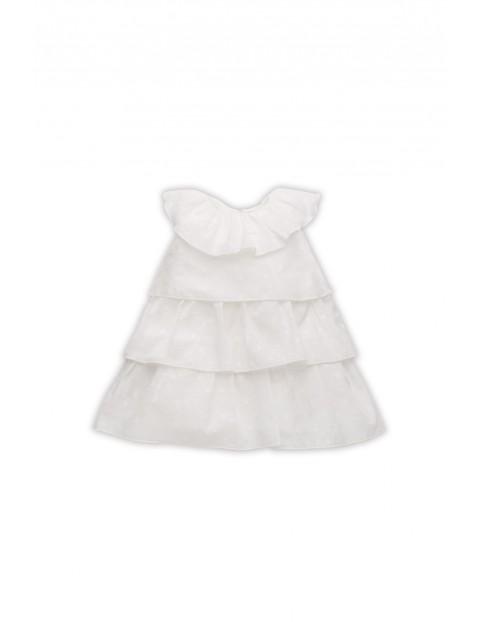 Sukienka Princess w groszki ecru