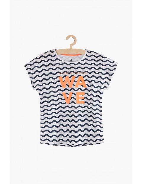"""T-Shirt bawełniany dla dziewczynki """"Wave"""""""