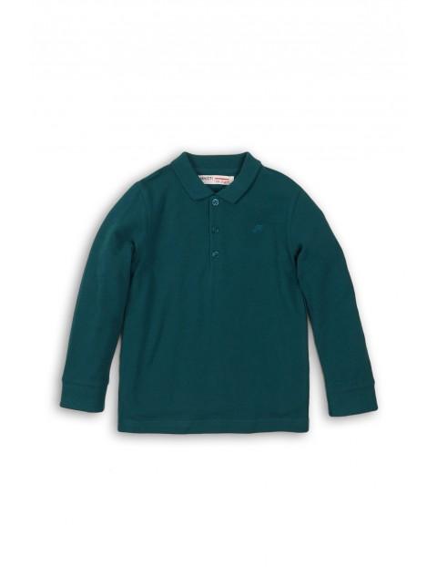 Bluzka niemowlęca z kołnierzykiem - zielona