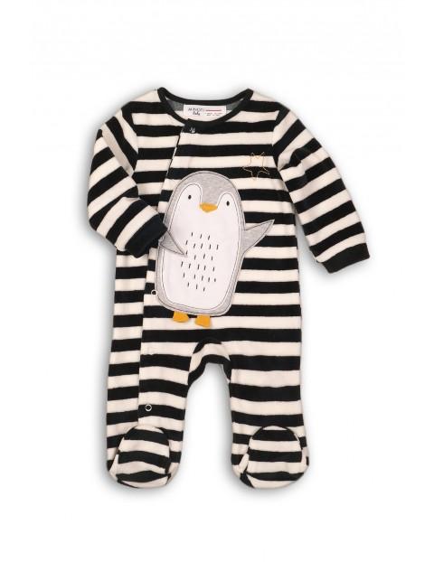 Pajac chłopięcy w paski- Pingwin