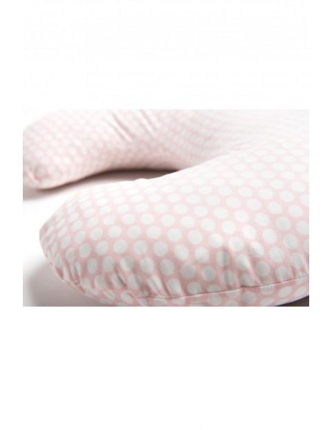 Poduszka do karmienia Comfort Exclusive 140 cm grochy różowo-białe