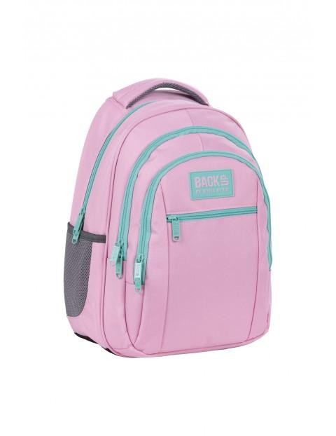 Plecak BackUp dziewczęcy różowy 3komorowy