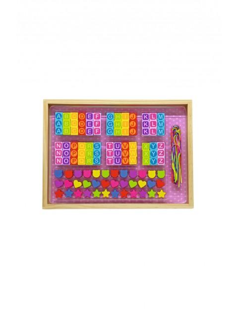 Literkowy zestaw koralików dla dziecka