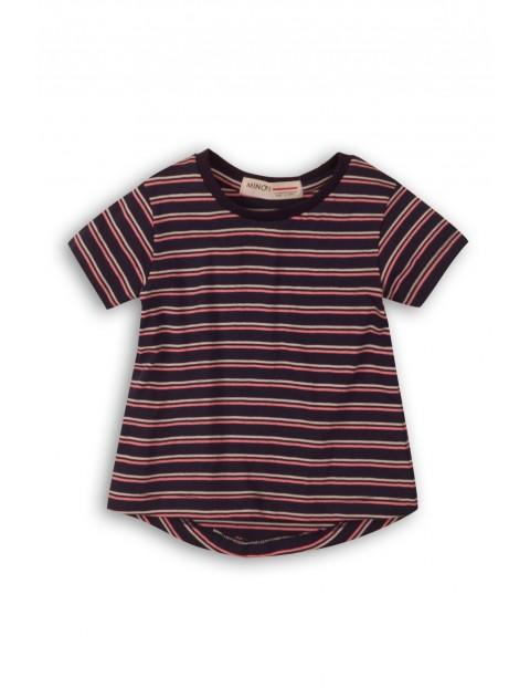 Koszulka dziewczęca granatowa w paski