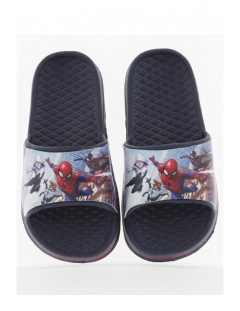 Granatowe klapki dla chłopca Spiderman