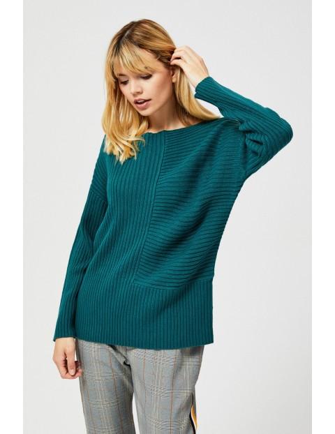 Sweter o luźnym kroju- zielony