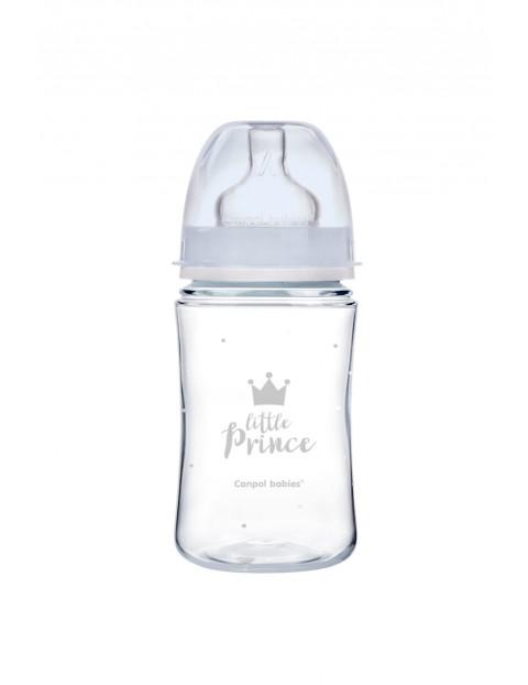 Butelka szeroka antykolkowa 240ml Easy Start Royal- niebieska 3msc+