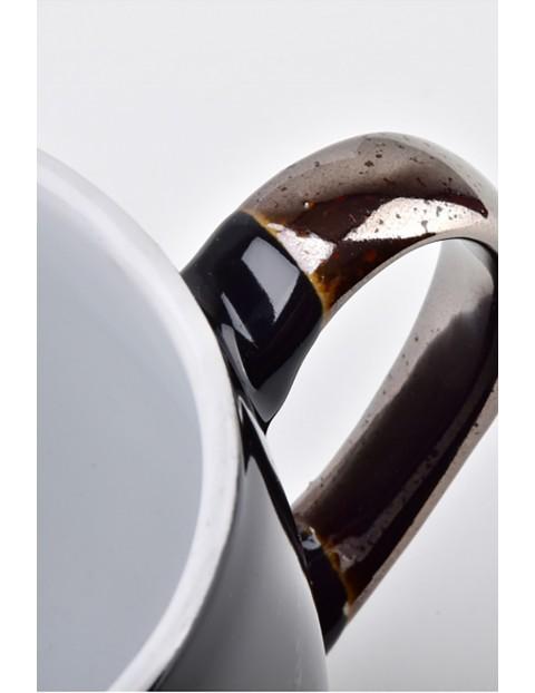 CAL BLACK Kubek porcelanowy czarny 390ml