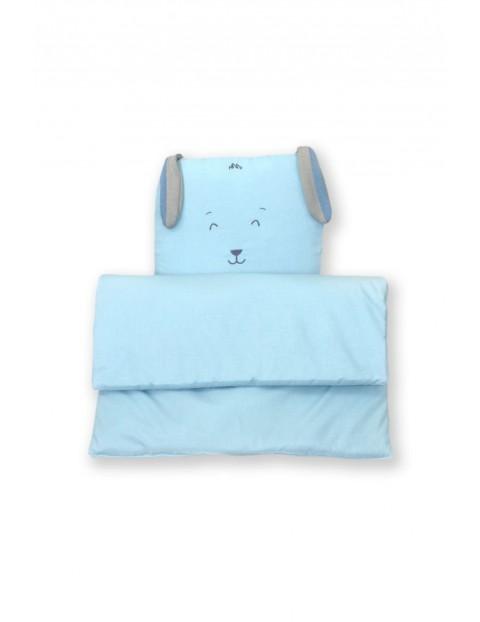 Kołderka i poduszka do wózka Amy Fluffy Sea - niebieska