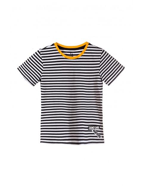 Koszulka chłopięca- biało czarne paski