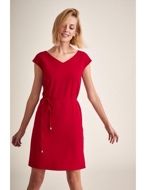 Sukienka damska - czerwona