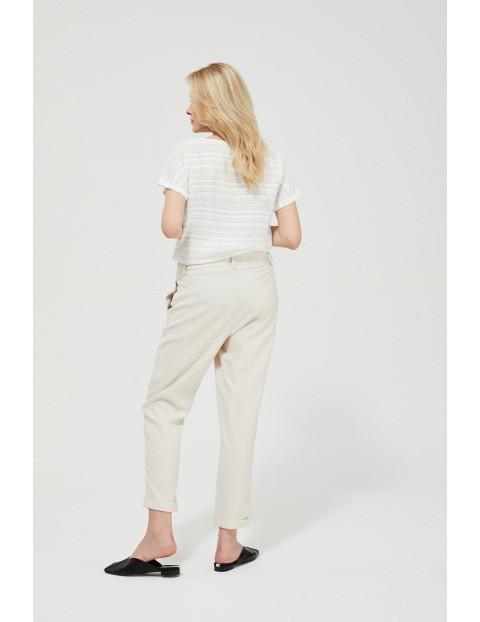 Spodnie damskie - beżowe