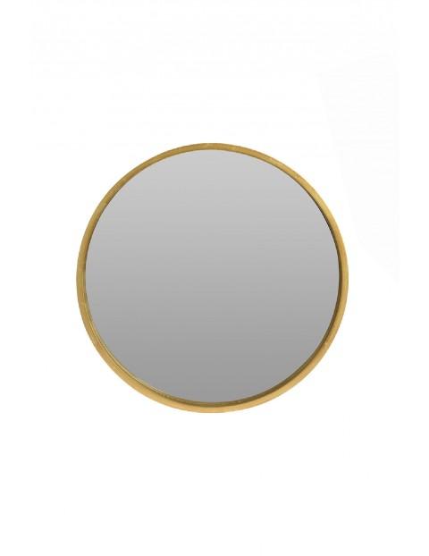 Lustro okrągłe złote 50cm