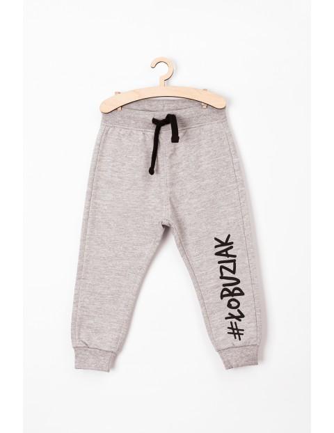 Spodnie niemowlęce dresowe szare #Łobuziak