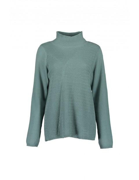 Sweter damski z półgolfem