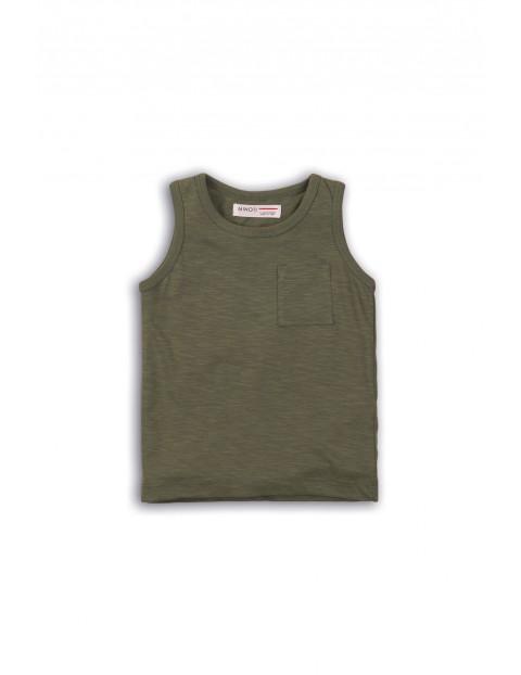 Zielona koszulka na ramiączka rozmiar 92/98