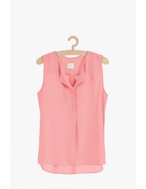 Bluzka damska na ramiączka- różowa