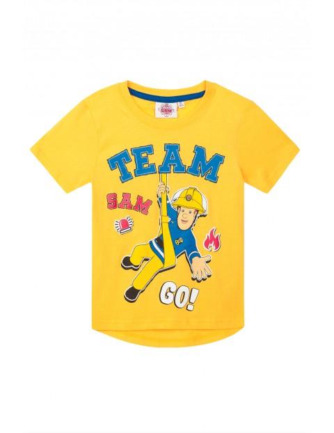 Koszulka chłopięca Strażak Sam-żółta
