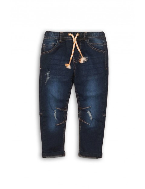 Spodnie niemowlęce jeansowe z przetarciami