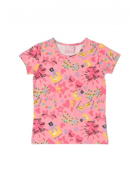 Koszulka sportowa we wzorki - różowe