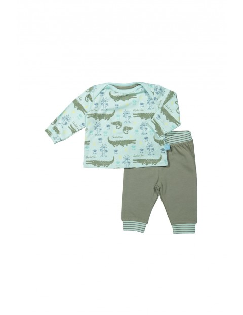 Komplet ubrań dla niemowlaka- krokodyle