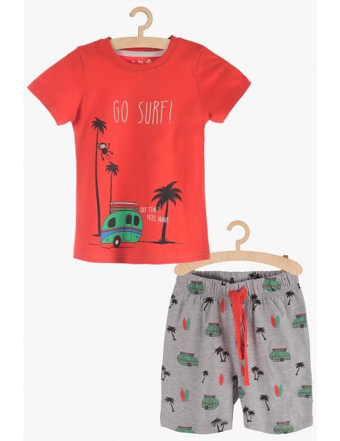 """Pidżama chłopięca czerwona """"Go Surf"""""""