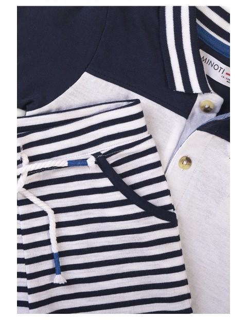 Bawełniany komplet niemowlęcy w marynarskim stylu
