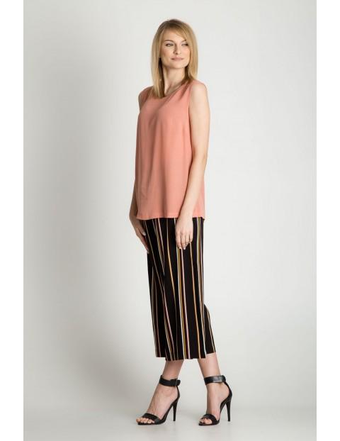 Różowa bluzka damska - grube ramiączka