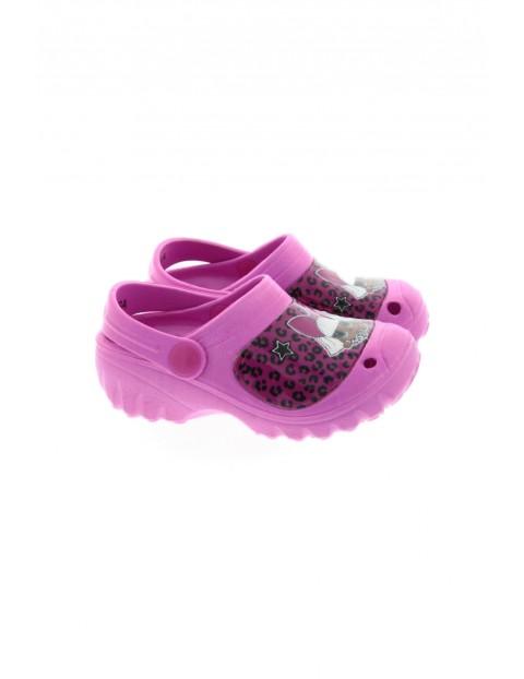 Klapki dziewczęce z kolorze fioletowym - Lol Suprise