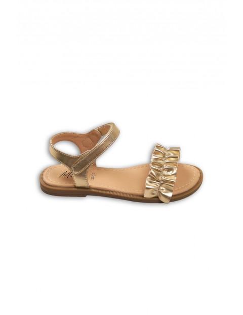 Złote sandały dla dziewczynki