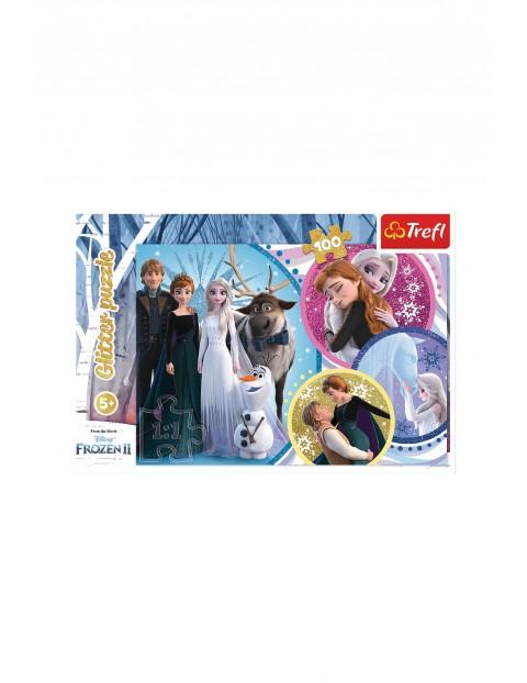 Puzzle 100 elementów- W blasku miłości Frozen 2 wiek 5+