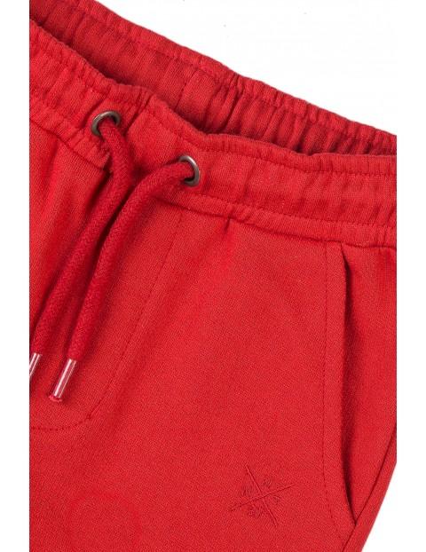 Spodnie dresowe niemowlęce czerwone