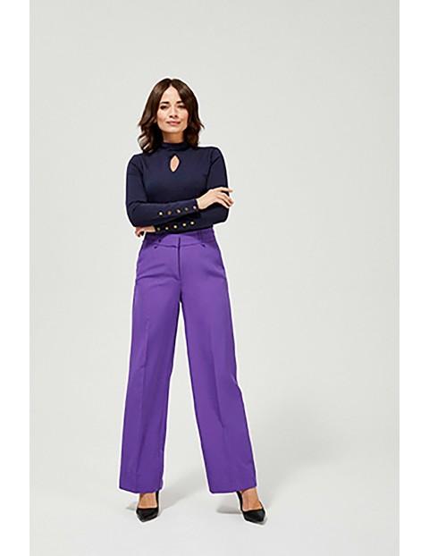 Spodnie z wysokim stanem - fioletowe