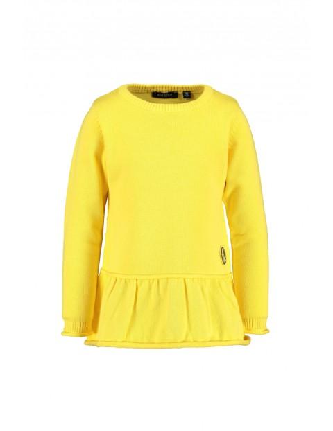 Sweter dziewczęcy - żółty